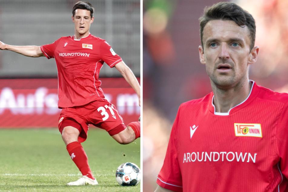 Keven Schlotterbeck (l) wird zum SC Freiburg zurückkehren. Verlängert Routinier Christian Gentner (r) bei Union?