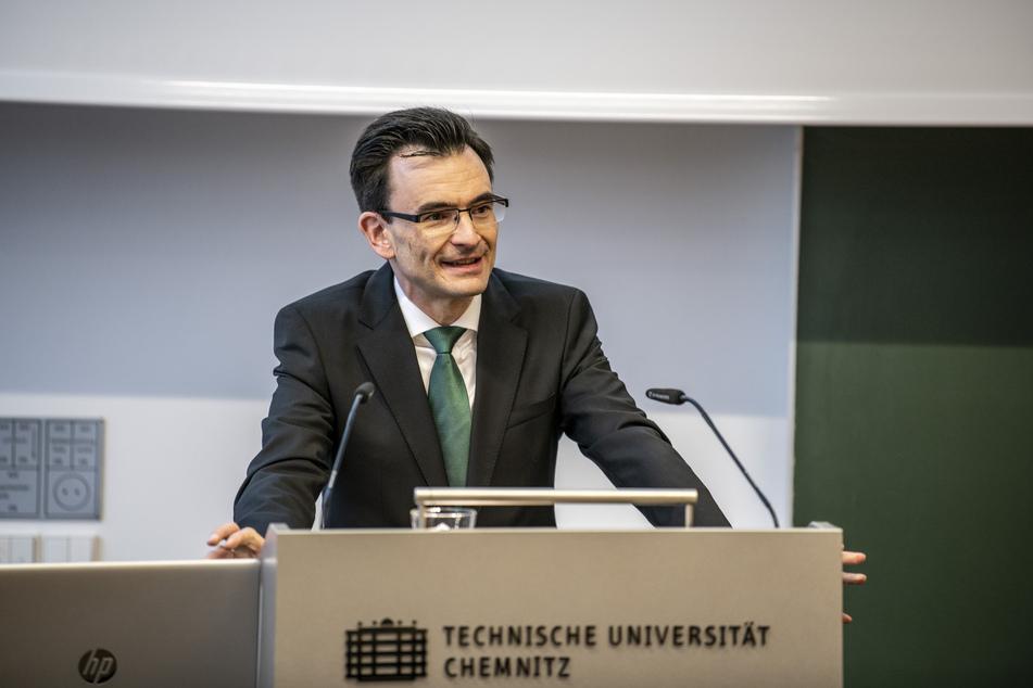 Gerd Strohmeier (44), Rektor der Technischen Universität Chemnitz.