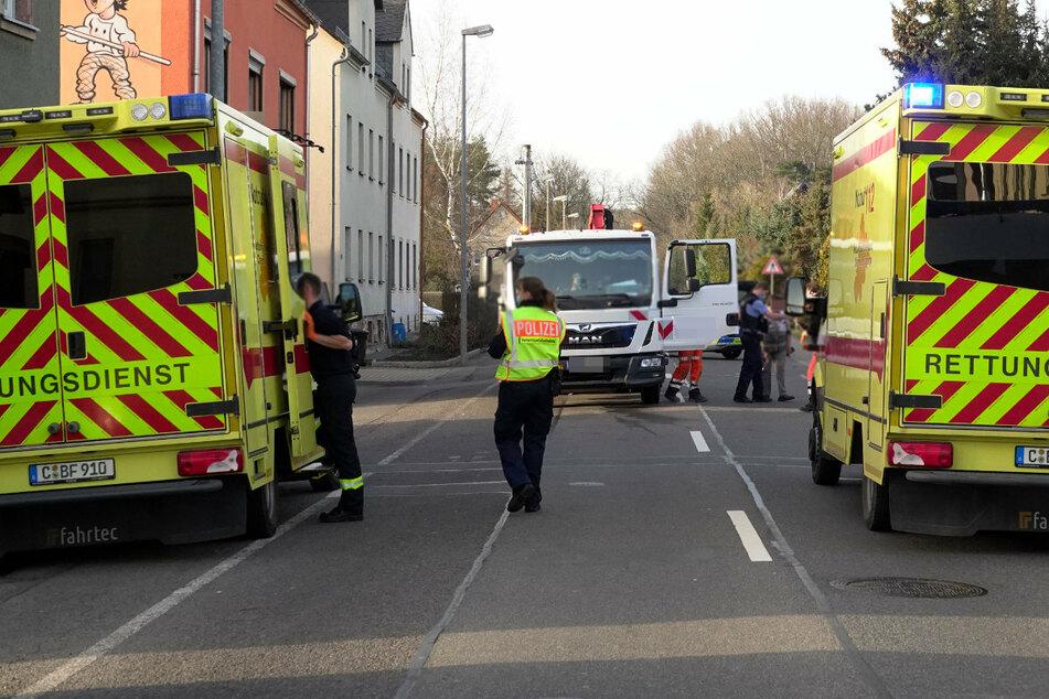 Vollsperrung in Chemnitz! Junge (6) von Lkw erfasst