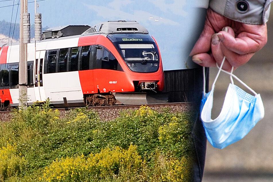 Polizist spricht Maskenverweigerer in Regionalzug an und wird übel zugerichtet