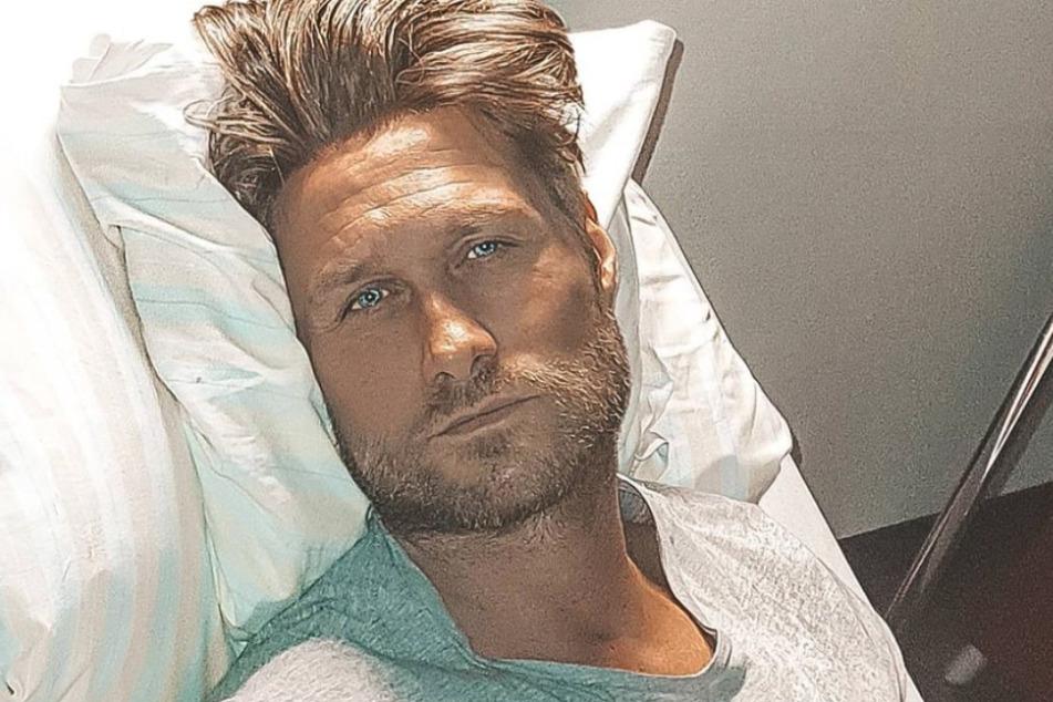 Nico Schwanz (42) meldete sich nach einer Not-Operation aus dem Krankenbett.