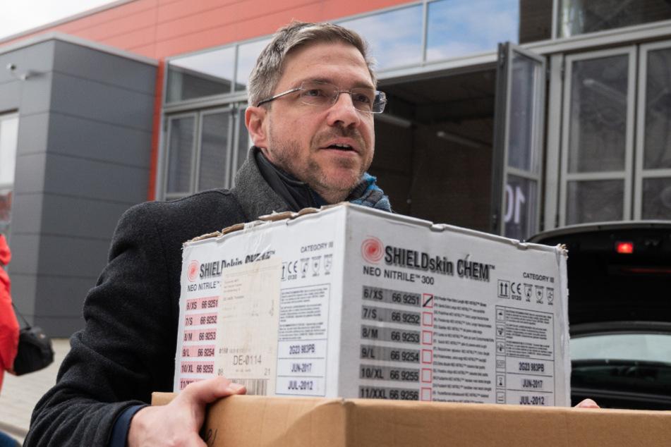 Oberbürgermeister Mike Schubert (47, SPD).