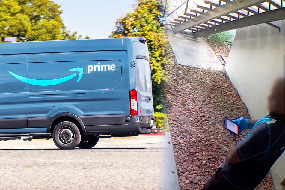 Special deliver-pee! Amazon driver leaves more than just a package on customer's doorstep