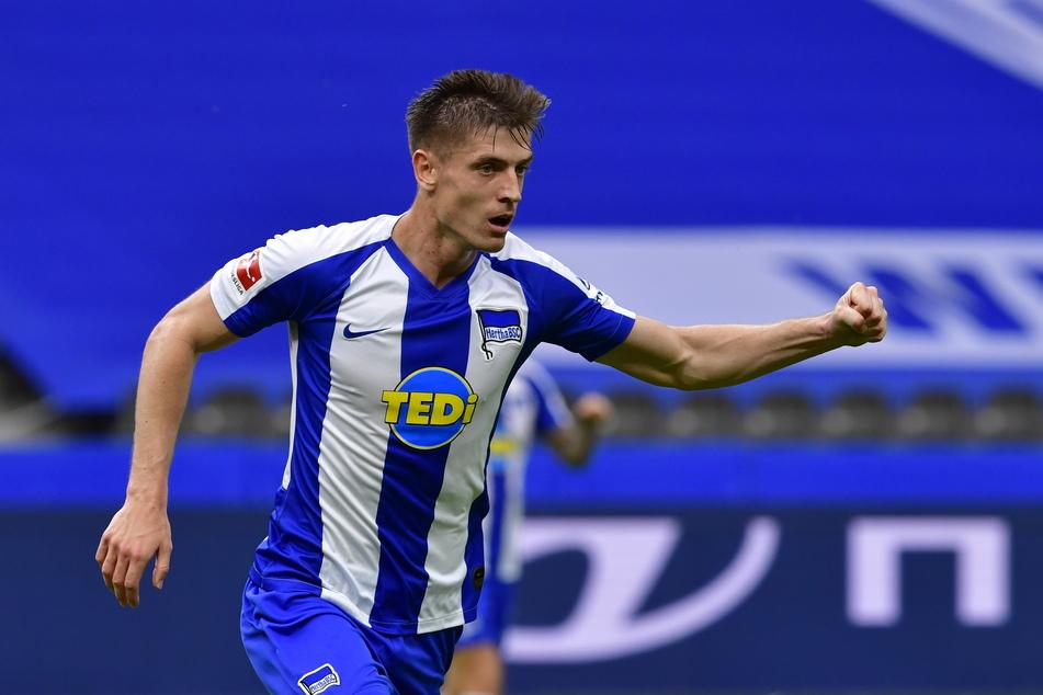 Krzysztof Piatek fehlt der Hertha aller Voraussicht nach im DFB-Pokalspiel gegen Eintracht Braunschweig.