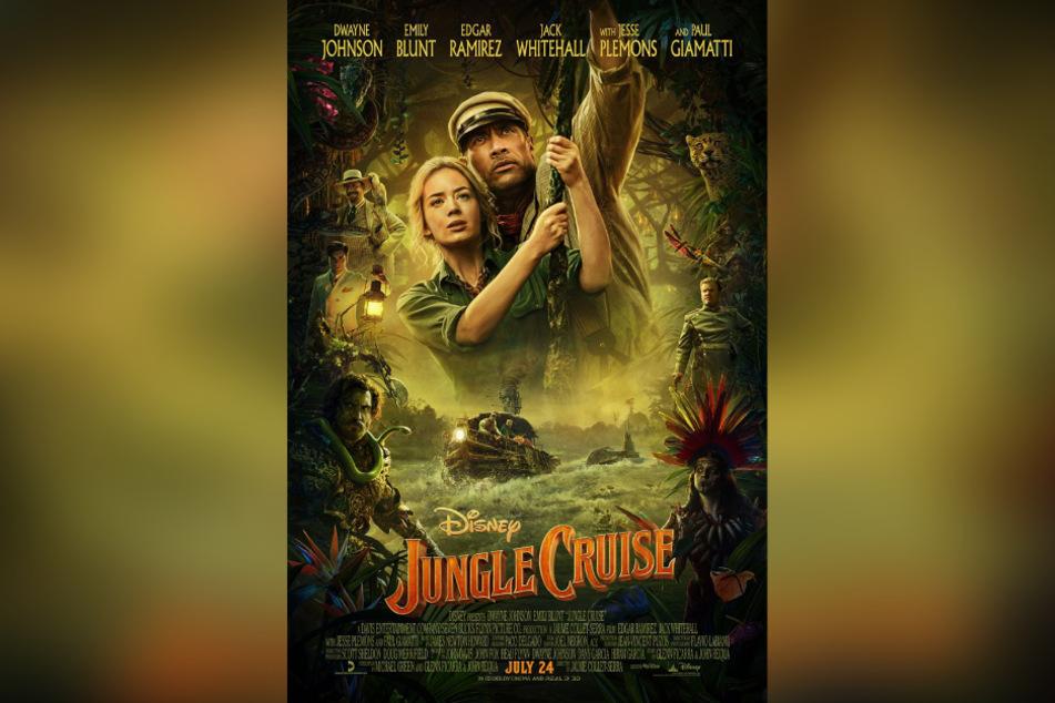 """Das offizielle Kinoplakat zu""""Jungle Cruise"""" lässt auf ein spannendes Film-Highlight 2020 hoffen."""