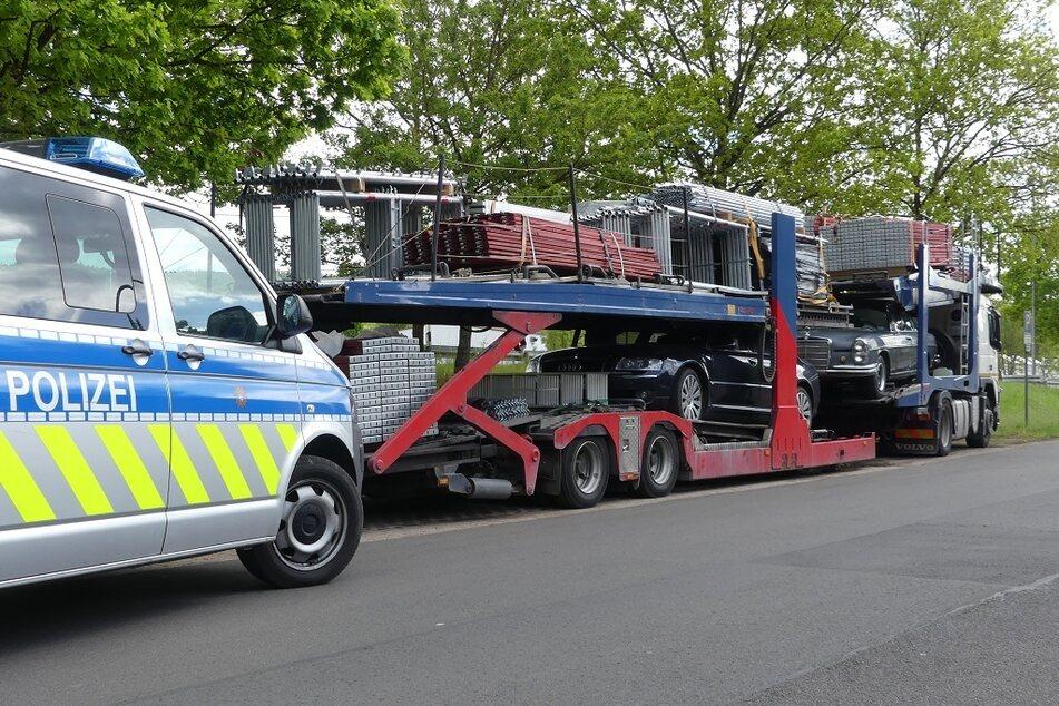 Die Sicherung und Verteilung der Last sowie auch der technische Zustand der genutzten Fahrzeuge waren mangelhaft.
