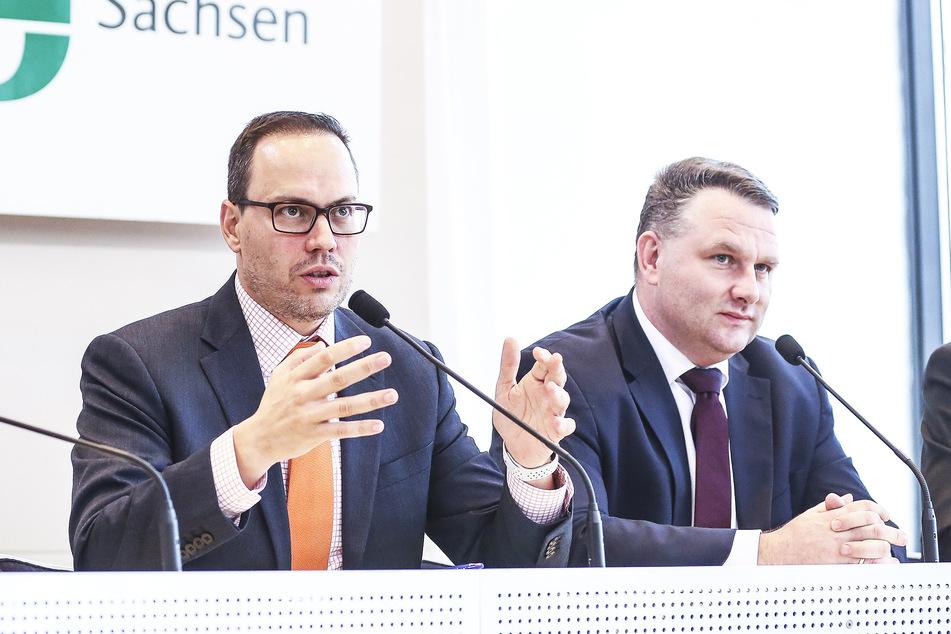 Dirk Panter (l., 46, SPD) und Christian Hartmann (45, CDU).