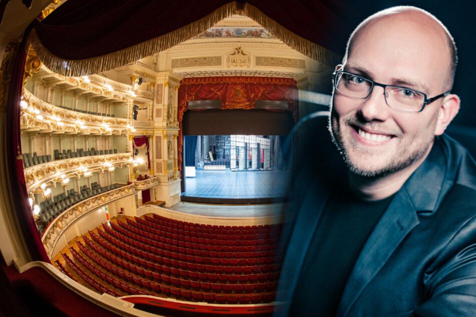 Auch die Semperoper bleibt noch zu. (l) Rechts im Bild: Marten Ernst (41) vom Boulevardtheater.