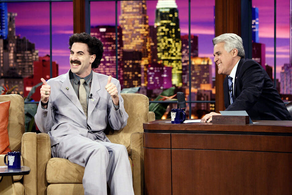Sacha Baron Cohen (in character as Borat) on the Tonight Show with Jay Leno.