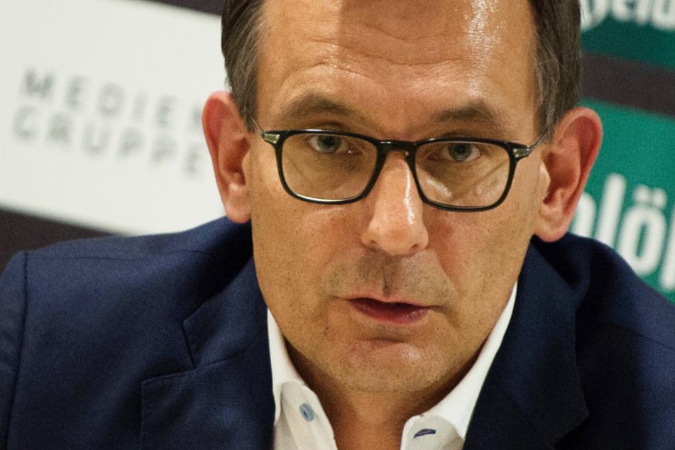 Michael Born, kaufmännischer Geschäftsführer bei Dynamo Dresden, hat angesichts der Falschmeldung klare Worte gefunden. (Archivbild)