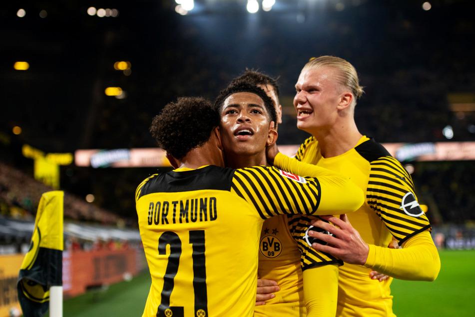 Erlösung beim BVB: Erling Haaland (r.) erzielte das entscheidende Tor.