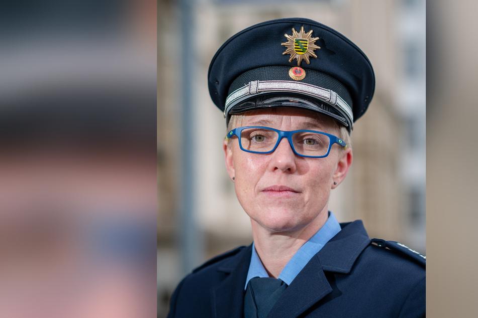 Jana Ulbricht (43), Sprecherin der Polizeidirektion Chemnitz.