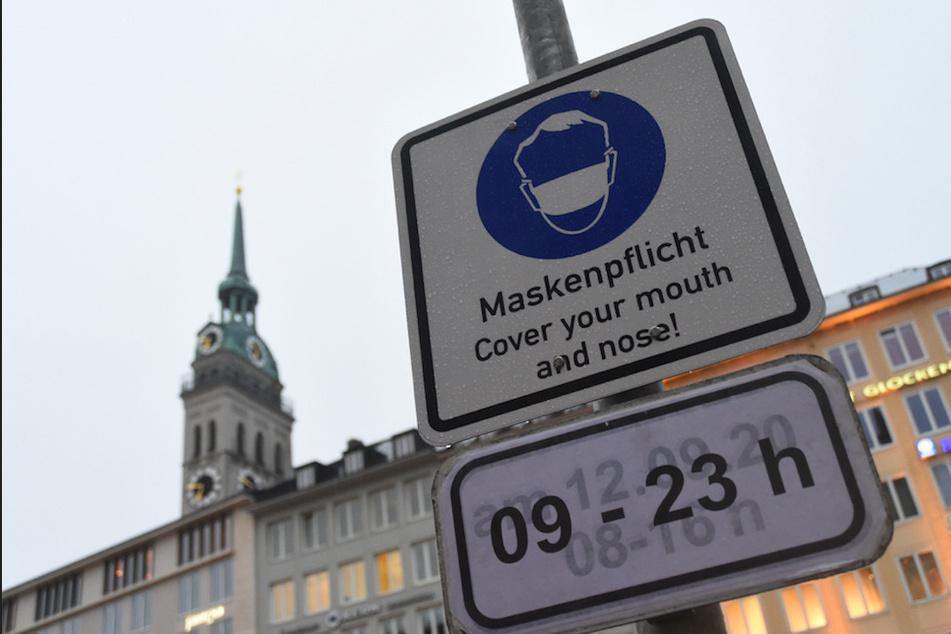 In der Münchner Innenstadt gilt wieder die Maskenpflicht an öffentlichen Orten.