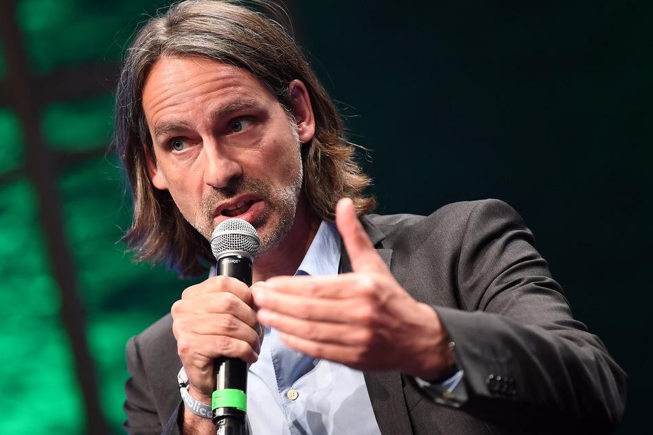 Richard David Precht (56), Philosoph und Publizist, bei einem Auftritt in Berlin im Jahr 2018. (Archivbild)