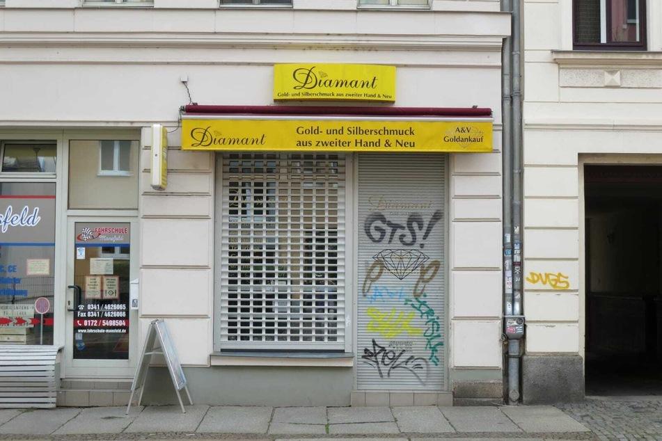 Dieses Juweliergeschäft in Leipzig wurde am Montagmorgen überfallen.