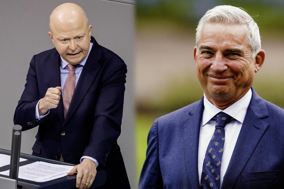 CDU-Landes-Chef Thomas Strobl (61, r.) und FDP-Landes-Chef Michael Theurer (54).