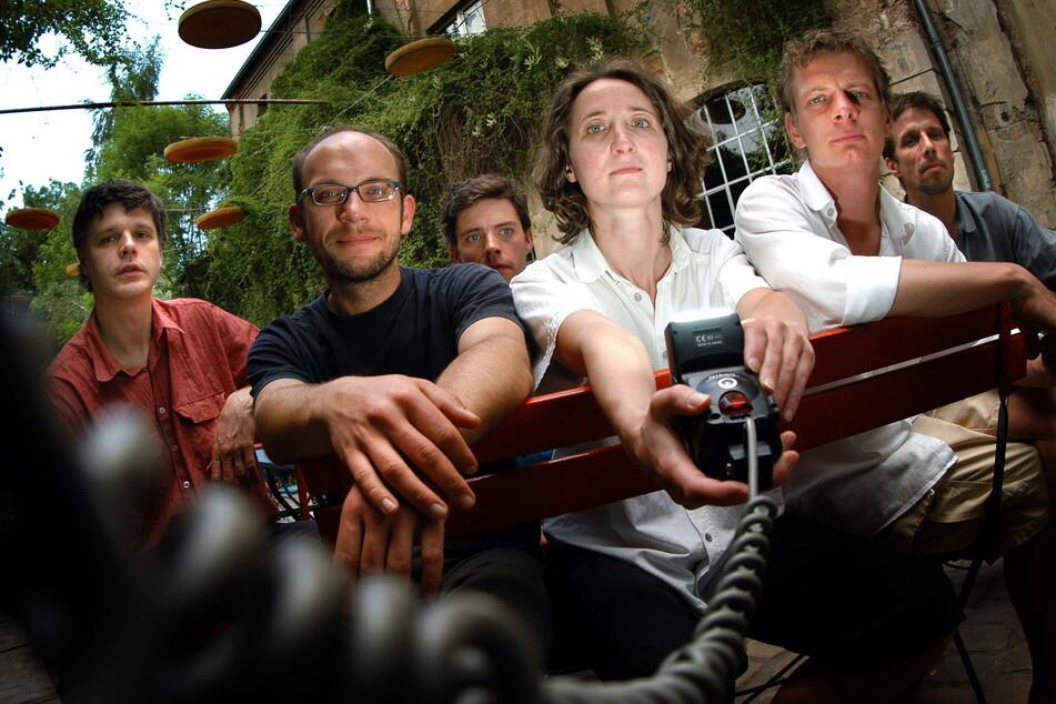 """Das """"VOXXX""""-Team, 2003 (v.l.): Heiko Schramm, Ulf Kallscheidt, Ingo Scheller, Katrin Uhlig, Georg Dick, Steffen Volmer."""