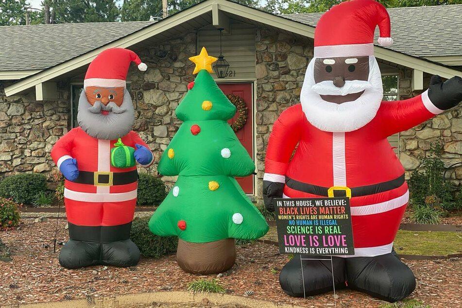 Wegen schwarzem Weihnachtsmann: Familie bekommt rassistischen Brief