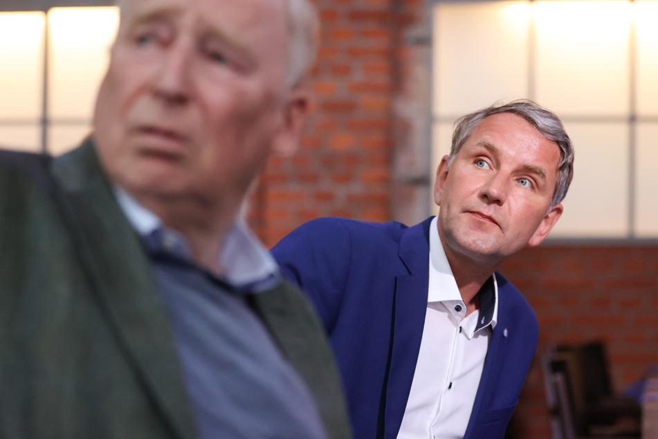 """Die AfD-Politiker Alexander Gauland (80, l.) und Björn Höcke (49) """"schafften"""" es in die Top 5."""
