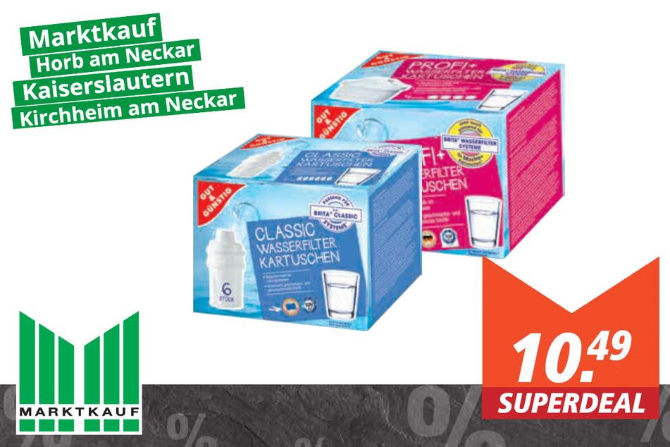 GUT&GÜNSTIG Wasserfilter-Kartuschen für 10.49 Euro