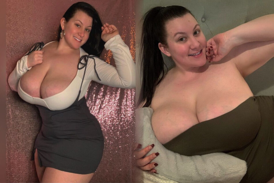"Plus-size model jokes about her big ""pillows"" and her fans love it"