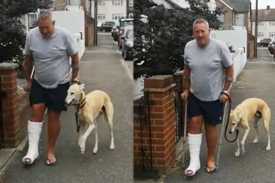 Russel Jones was limping and suddenly so was his dog.