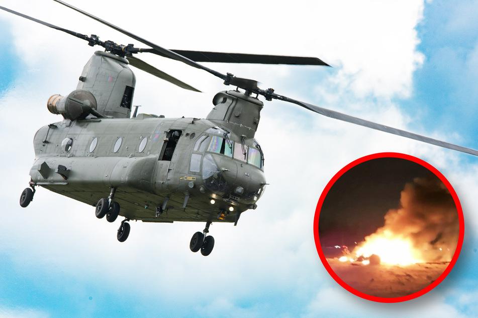 Militärhubschrauber abgestürzt: Drei Soldaten sterben!