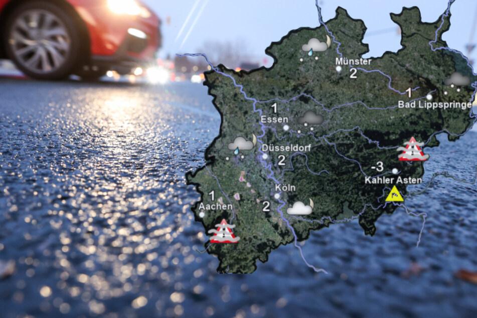 NRW: Deutscher Wetterdienst warnt vor Glätte!