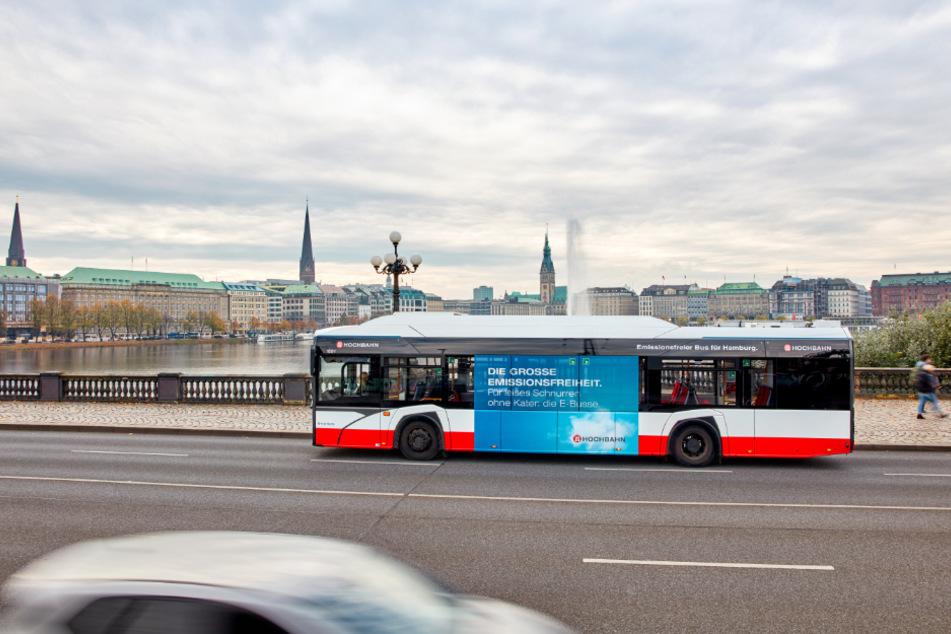 Die Hamburger Hochbahn setzt auf elektrisch angetriebene Busse.
