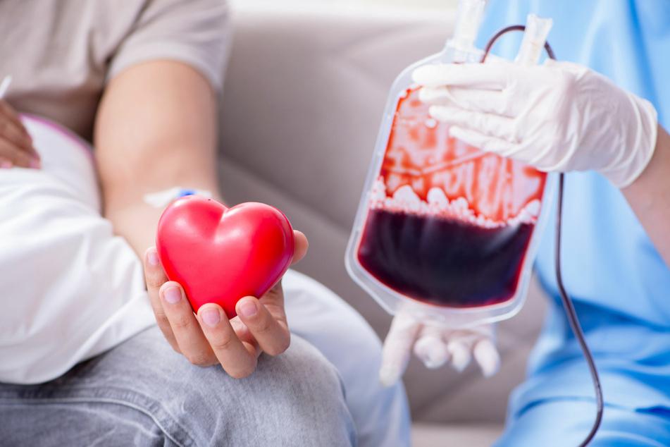 Blut spenden rettet Leben.