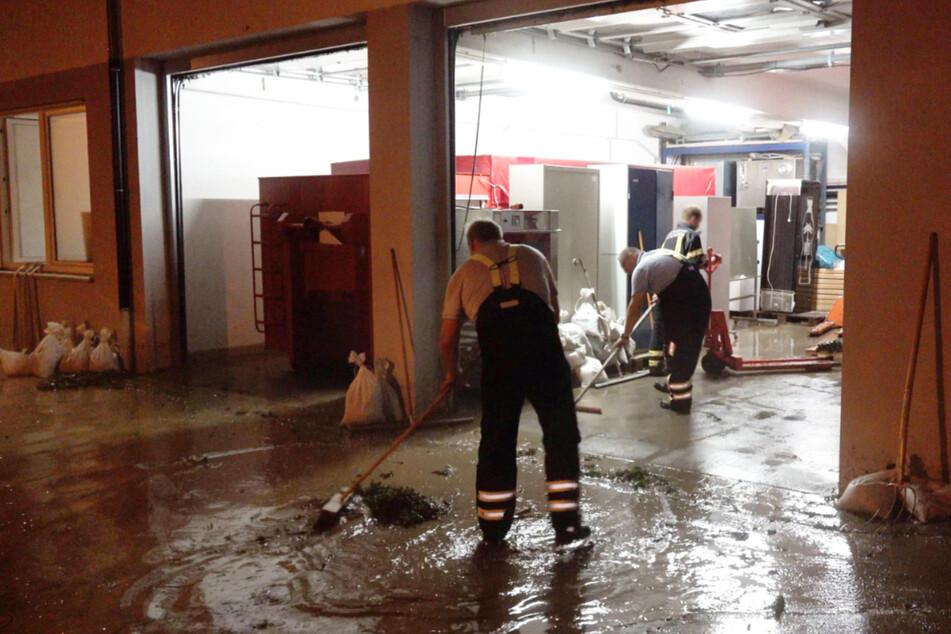 Auch in Bempfingen (Kreis Esslingen) hatte die Feuerwehr alle Hände voll zu tun.