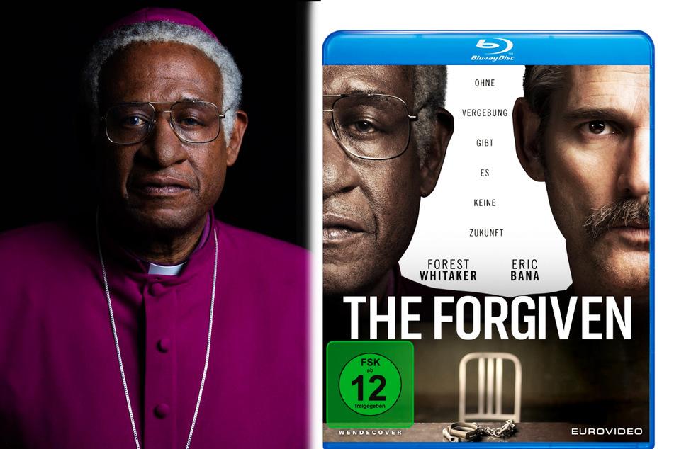 """Forest Whitkater (l. und M.) spielt in """"The Forgiven"""" Erzbischof Desmond Tutu, Eric Bana verkörpert den Serienmörder Piet Blomfeld."""