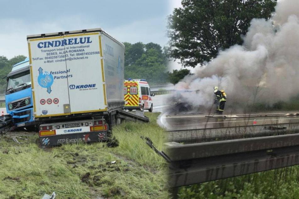 Vollsperrung: Zwei Unfälle auf der A4