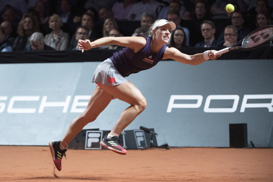 Angelique Kerber (33) beim WTA-Turnier 2019 in Stuttgart in Aktion.