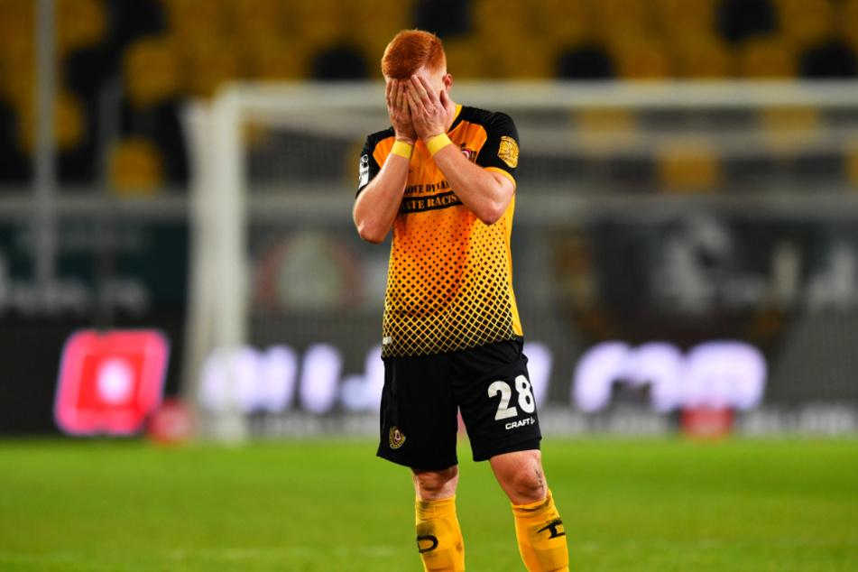 Zum Vergraben! Dynamo Dresden um Paul Will hat bislang nur fünf Tore erzielt. Kein anderes Drittliga-Team ist schlechter!