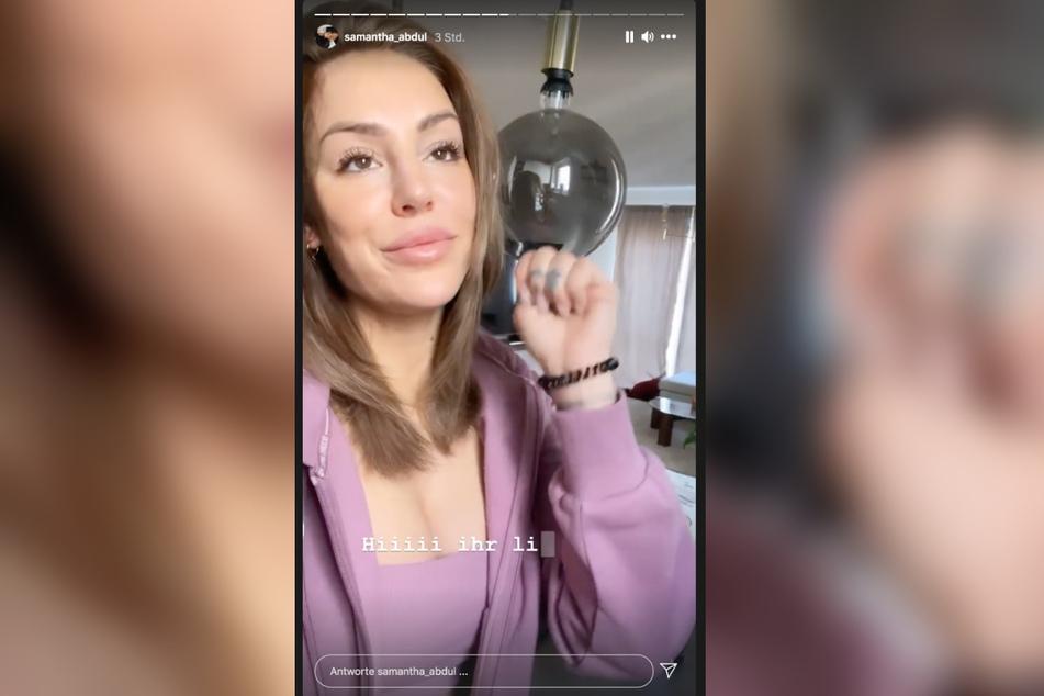 Samantha Abdul (31) gibt sich in ihrer Instagram-Story kämpferisch.