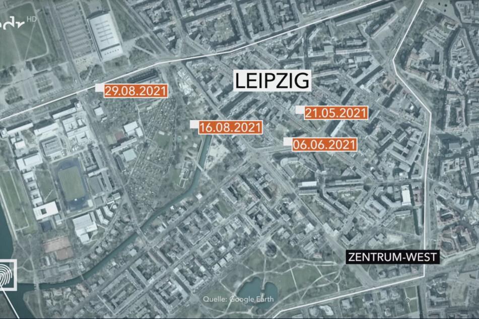 An vier verschiedenen Orten in Leipzig wurden mittlerweile mit Sprengstoff gefüllte Päckchen aufgefunden - alle Fundorte befinden sich im westlichen Zentrum der Stadt.