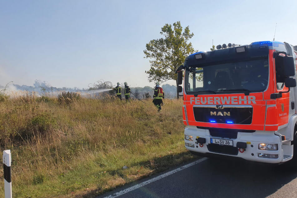 Sichtbehinderung wegen Rauchs: Zufahrt zu A14 nach Feldbrand gesperrt
