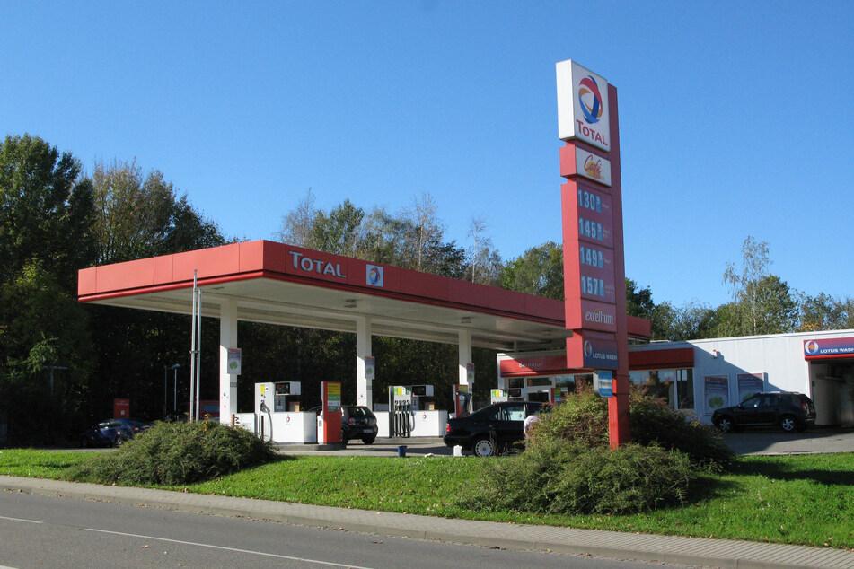Tatort Mittweida: Diese Tankstelle überfiel Chris Teicher im Oktober 2014.