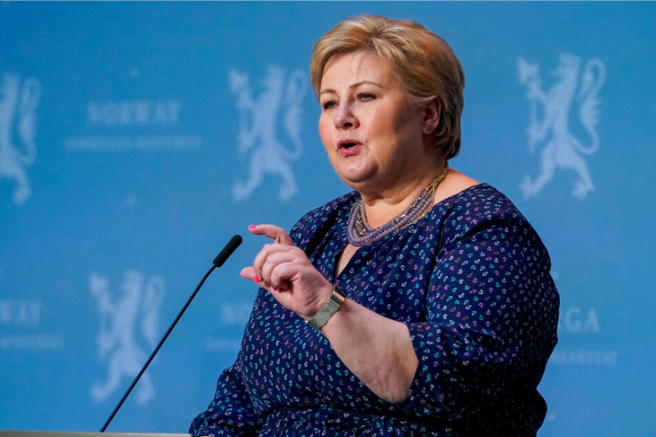 Die norwegische Ministerpräsidentin Erna Solberg.
