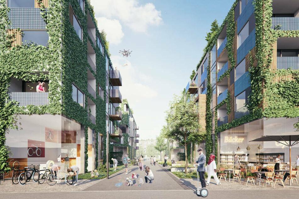 So könnte es in den Straßen des Schumacher Quartiers in Zukunft aussehen. (Konzeptfoto)