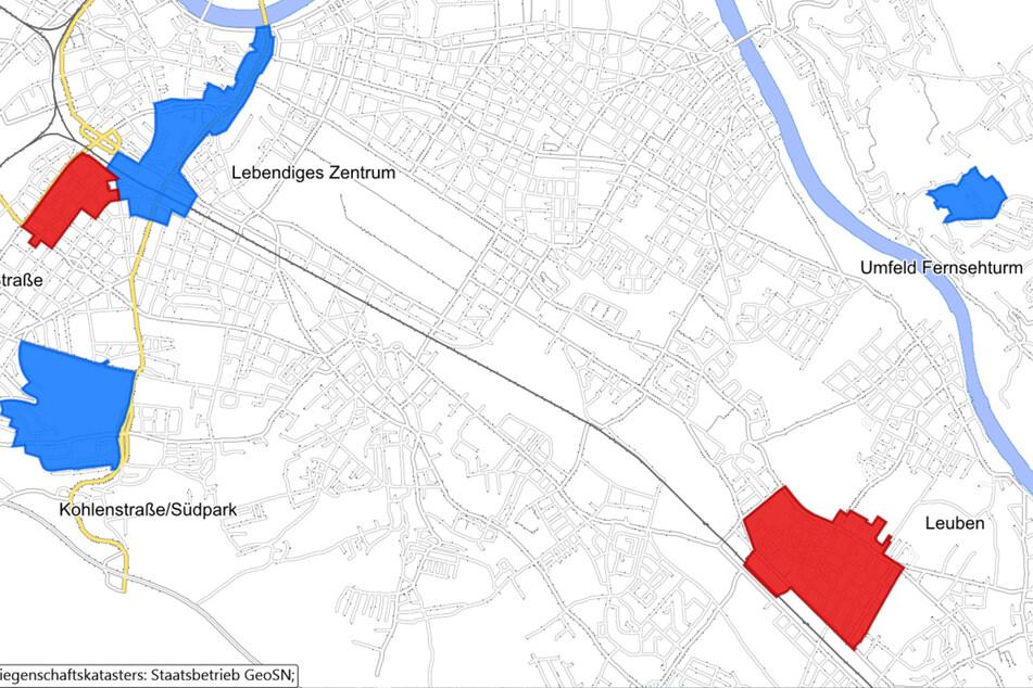 An manchen Orten hat die Stadt große Pläne.