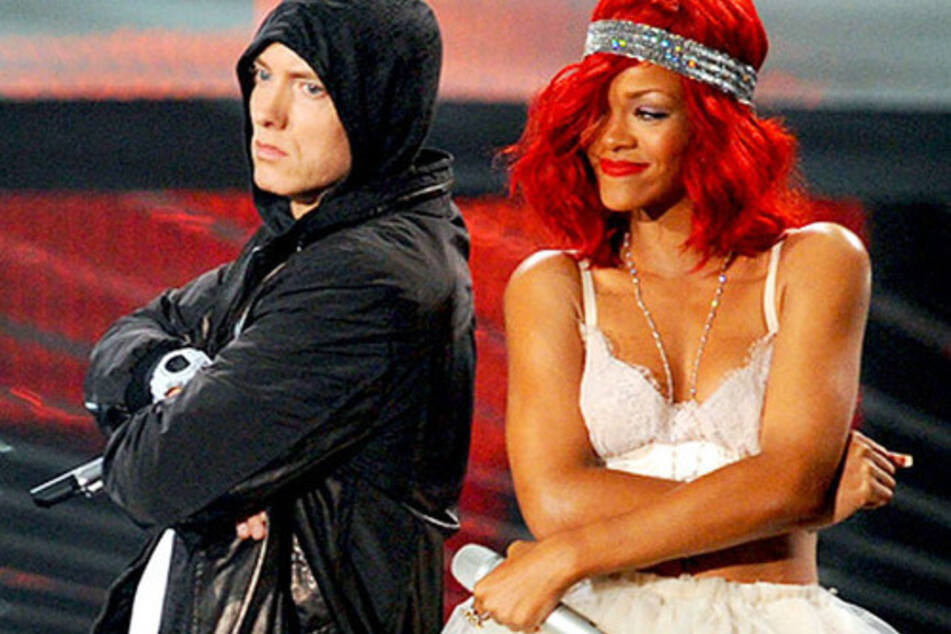 Eminem and Rihanna have collaborated on several tracks in the past (archive photo).