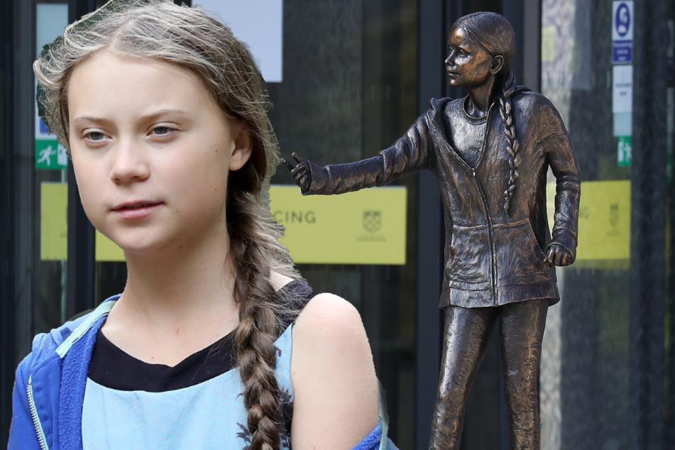 Greta Thunberg: Uni stellt Statue von Greta Thunberg auf: Studenten sind nicht begeistert