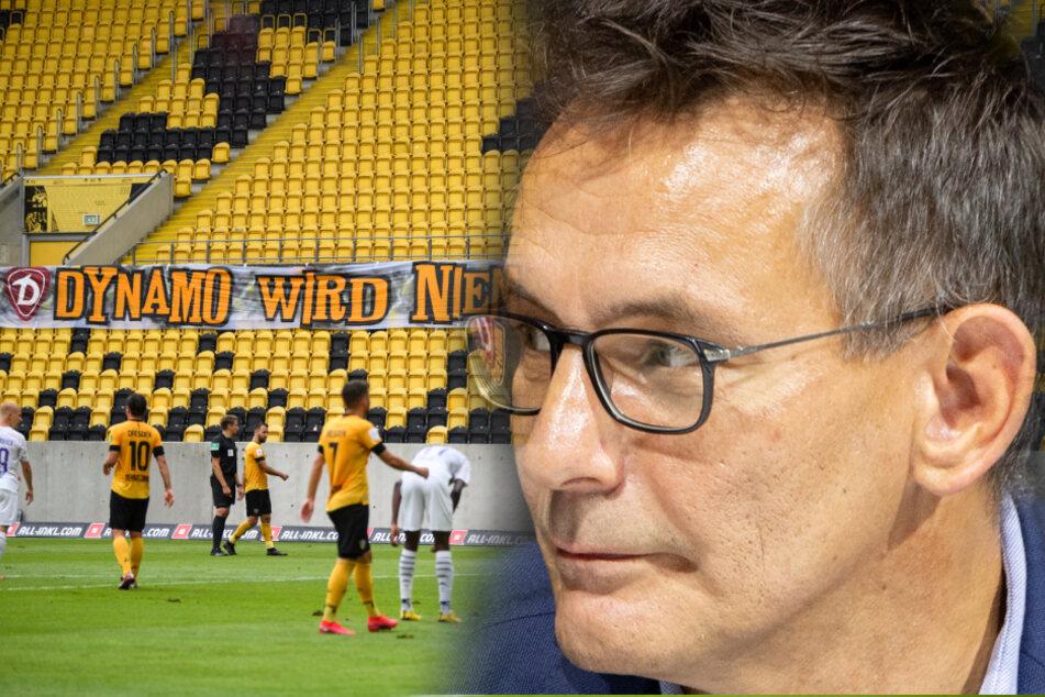 Dynamos Geschäftsführer Michael Born (52). (Bildmontage)