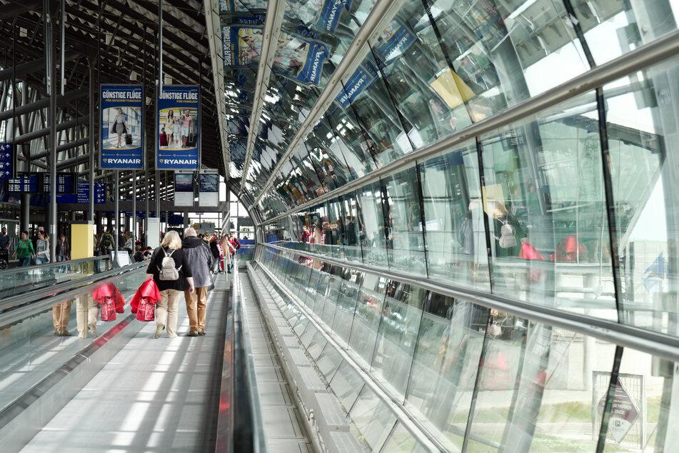 Blick in die Mall im Zentralterminal auf dem Flughafen Leipzig/Halle.