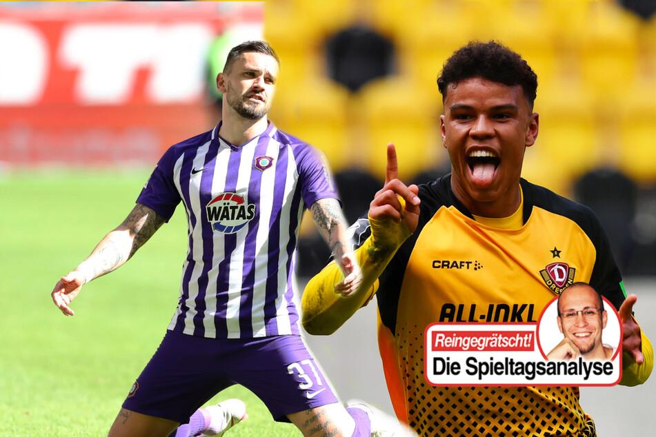 Dynamo im Freudentaumel, Erzgebirge Aue ganz schwach!