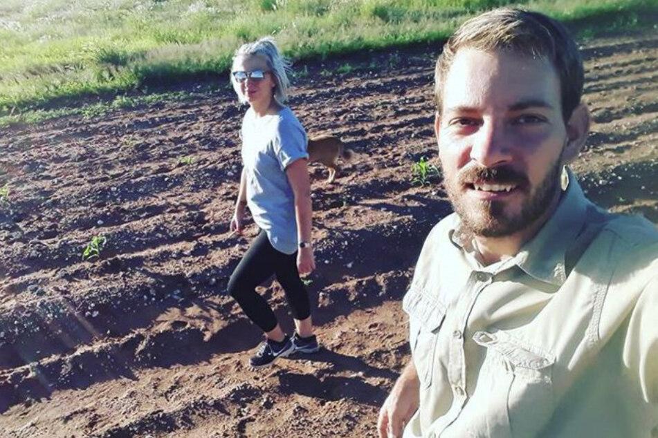 Anna (29) und Gerald Heiser (33) auf einem Selfie.