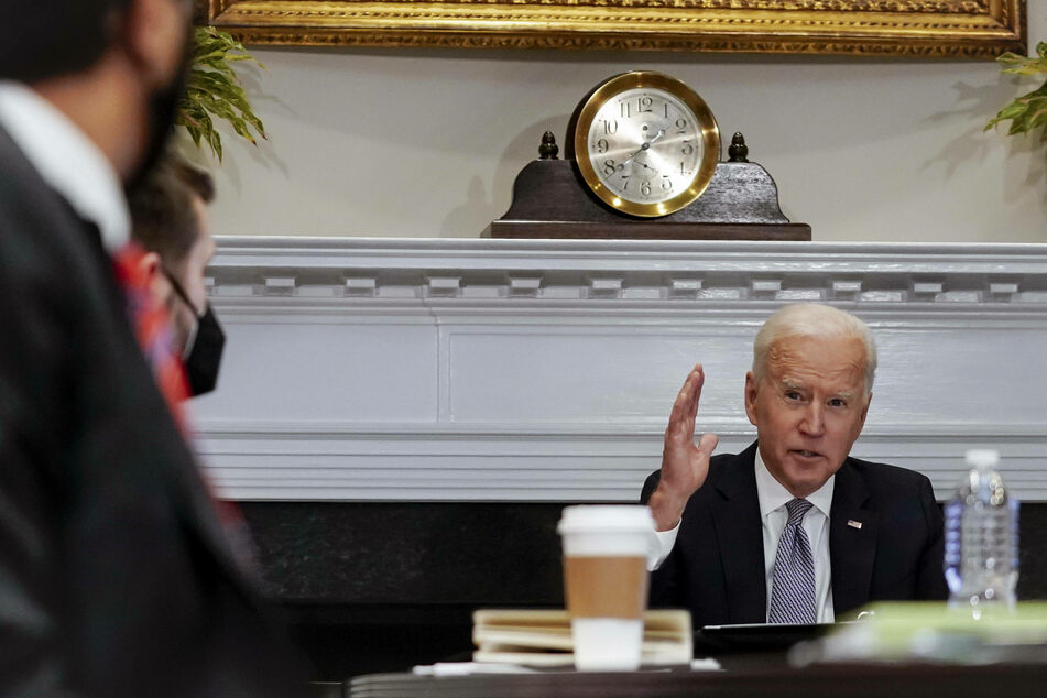President Joe Biden cited the peace negotiations between the Taliban and the Afghan government as key to a full withdrawal of US troops.