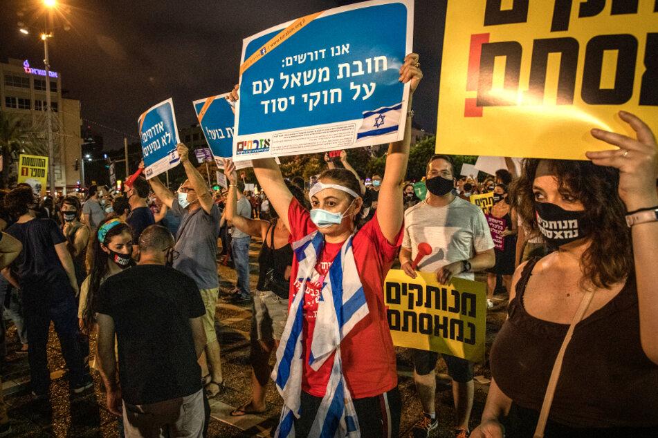 Coronavirus: Tausende Israelis demonstrieren gegen Corona-Politik der Regierung